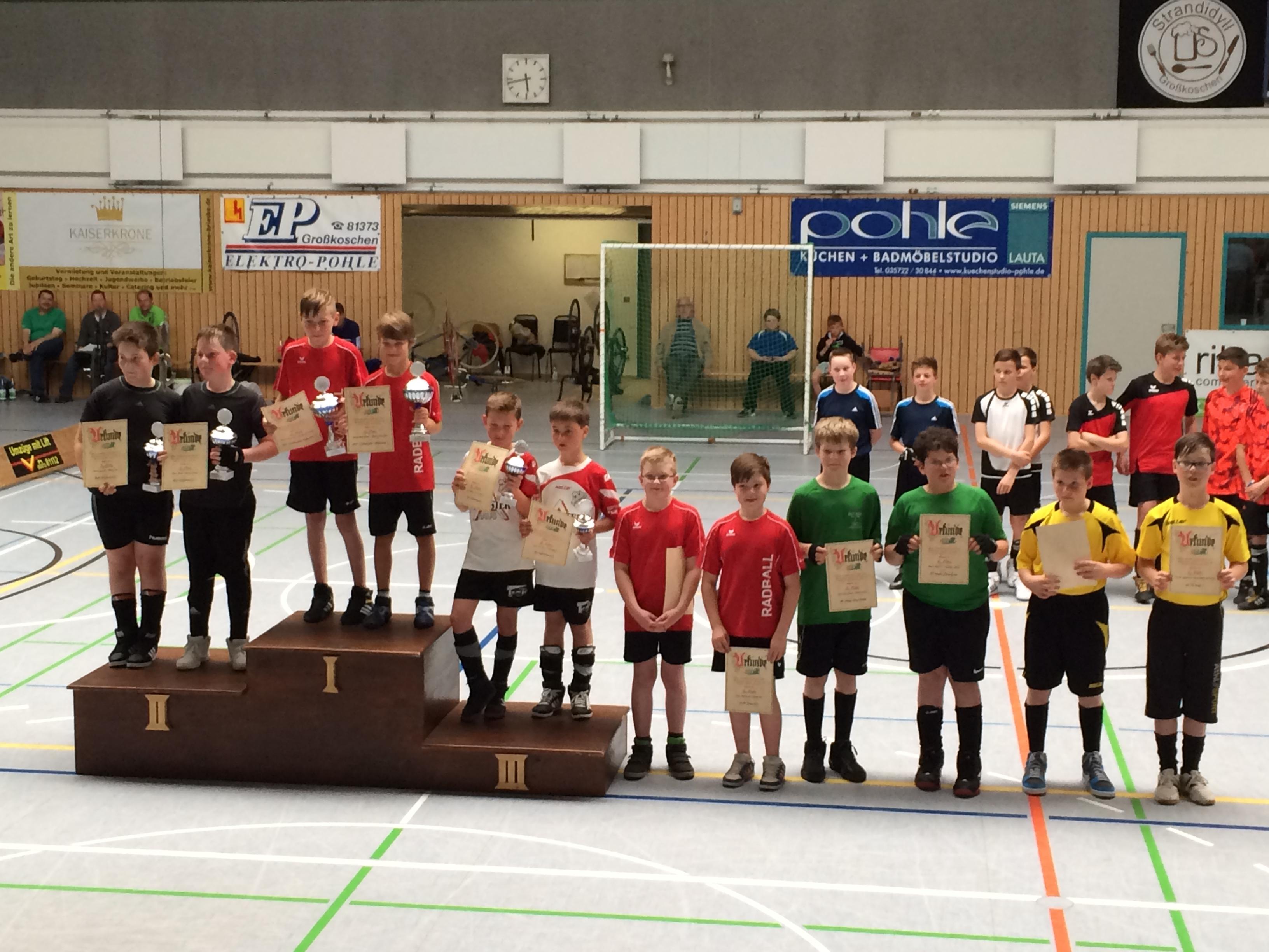 2015 Siegerehrung Halbfinale U13_Großkoschen